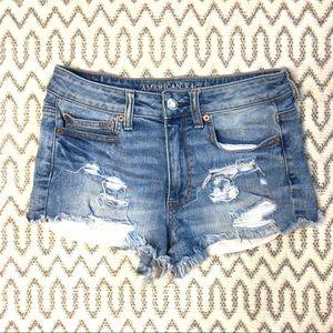 American Eagle m High Rise Festival Jean Shorts 6